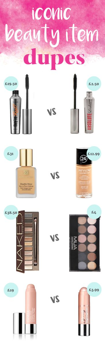 Save £££'s on those Beauty 'Must Haves' with our Top Dupes List!                                                                                                                                                                                 More
