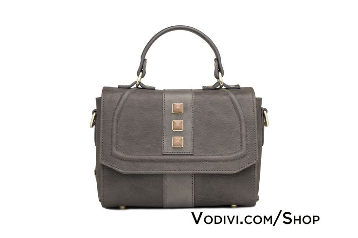 PRIORA by #Vodivì: Women's Mini Tuscan hand-colored vegetable-tanned leather bag. Heat pressed.  Shaped flap with raised cornice. Magnetic closure. Mini studs in pink, hand-carved stone.  #Made_in_Italy