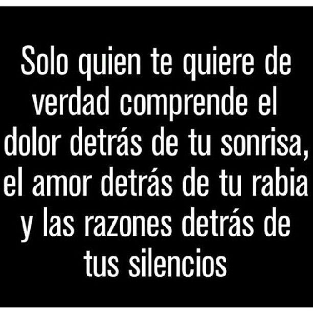 Solo quien te quiere... #frase #español
