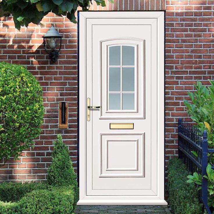 External Maree One Georgian Bar Pvcu Door. pvcreardoor pvcfrontdoor #whitepvcglazeddoor