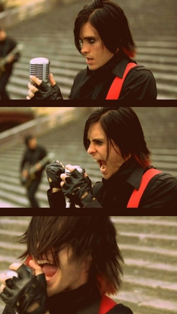 "Jared Leto from 30 Seconds to Mars in the music video for ""From Yesterday"" my fav song.. <3"