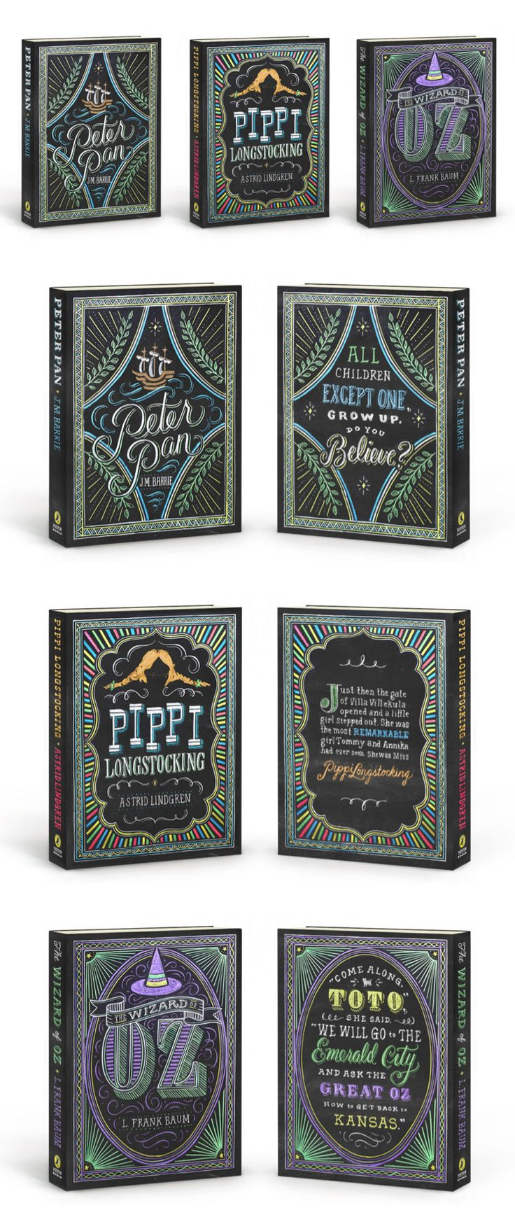 Puffin Chalk book covers by TANAMACHI STUDIO