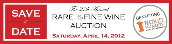 Save the date for the 27th Annual Rare and Fine Wine Auction - April 14th at the Four Seasons Austin