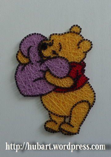 string art winnie the pooh
