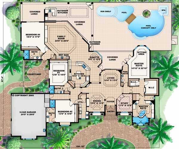 1000 Ideas About 4 Bedroom House Plans On Pinterest 4