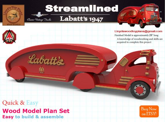 Labatts 1947 by Lloydswoodtoyplans on Etsy