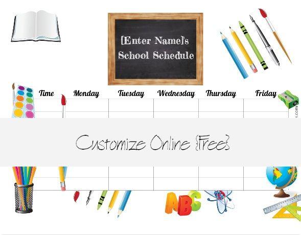 printable class schedule maker