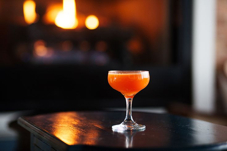 This spring-ready cocktailfeatures one of the most natural flavor pairings: savory carrot juice and spicy ginger. | Photo by Dan Segar.