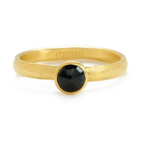 An enchanting, rose-cut black sapphire has maximum sparkle in this 424 gold ring, which features Gurhan's proprietary blend of hammered yellow gold.  Gurhan at Greenwich Jewelers, $1100: Gurhan S Proprietary, Sapphire Rings, Hammered Yellow, Features Gurhan S, Gold Rings, 424 Gold, Black Sapphire