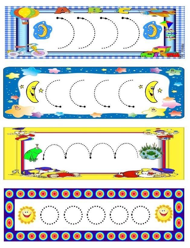 schrijfpatroon voor kleuters / Dibujo2