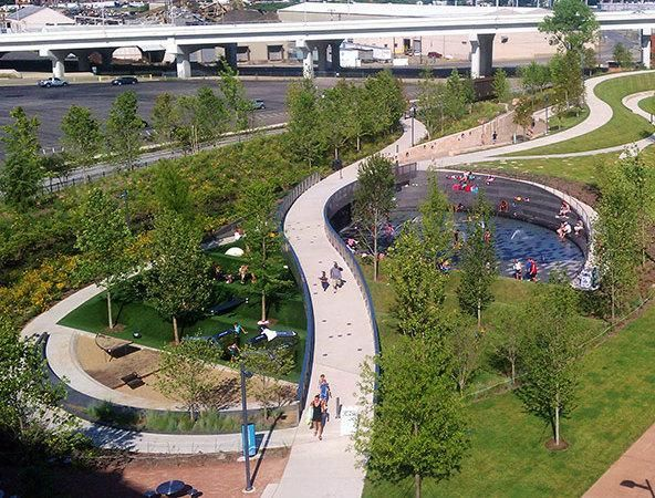 Cumberland Park, Nashville by Hargreaves Associates. Click image for link to full profile and visit the slowottawa.ca boards >> https://www.pinterest.com/slowottawa/: