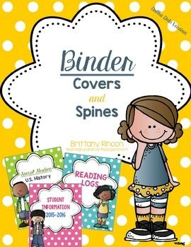 Polka Dot Binder Covers and Spines EDITABLE Includes spines labels from .5 inch through 2 inches! Great for any binder FULLY CUSTOMIZABLE!