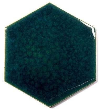 Blue Ceramic Handmade Wall & Floor Tile - Hexagon, glaze - Venus