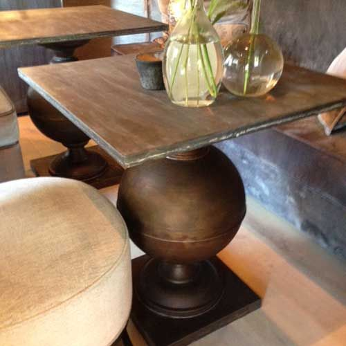 Duran Lighting and Interiors || Toro Restaurant Table || Available in Old Bronze and Zinc ||  http://www.duran.nl/product/toro-dur154/