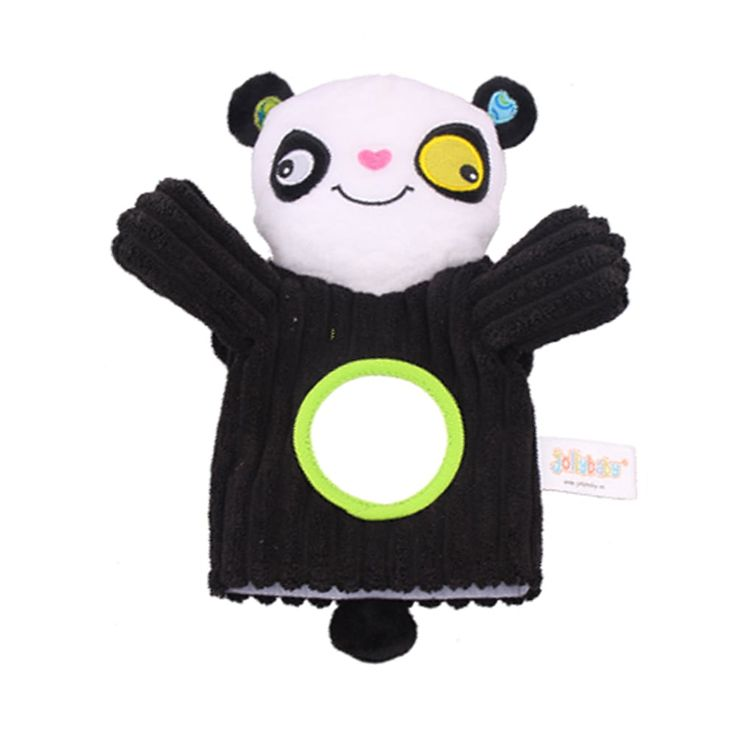 Monkey Animal Hand Puppet with Safety Mirror
