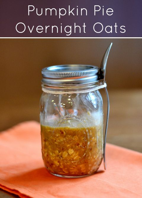 Pumpkin pie overnight oats, a great fall breakfast recipe from Real Food Real Deals
