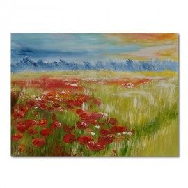 Meadow, poppies, modern painting [iGaleria] --> Zitolo.com