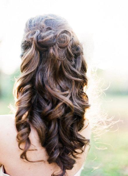 wedding hair: Hair Ideas, Weddinghair, Hair Styles, Wedding Ideas, Long Hair, Prom Hairstyles, Wedding Hairs, Soft Curls, Curly Hair