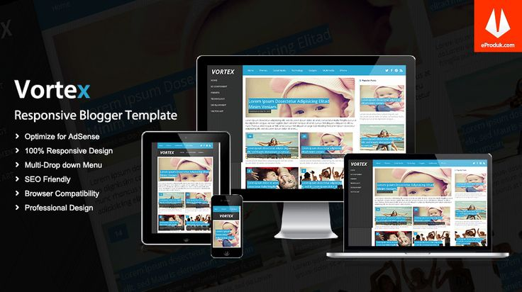 Responsive Blogger Template v9 Vortex is a high functioning and multimedia magazine style blogger template designed for professional bloggers or webmasters.