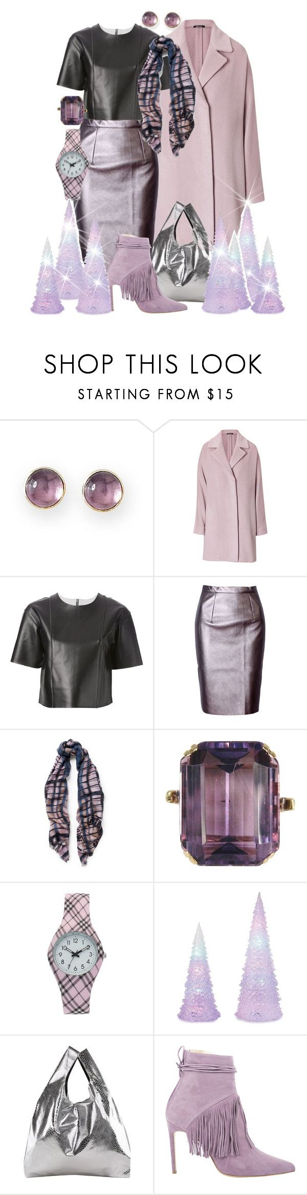"""""""Shine and Shimmer"""" by donna-capodelupo ❤ liked on Polyvore featuring Mark & Graham, Maison Margiela, T By Alexander Wang, WithChic, Amanda Wakeley, MM6 Maison Margiela, contestentry and holidaystyle"""