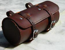 Leather Comfortable Soft Vintage Bicycle Saddle Brown Tool Bag Tail Box Cycling