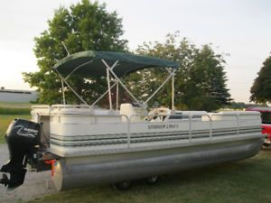 2000 Smoker Craft 24 Pontoon Boat W1999 Evinrude 70hp 4 Stroke