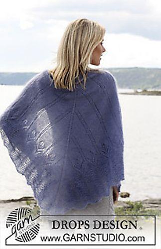 free knitting pattern shawl needle 3mm and 800m yarn