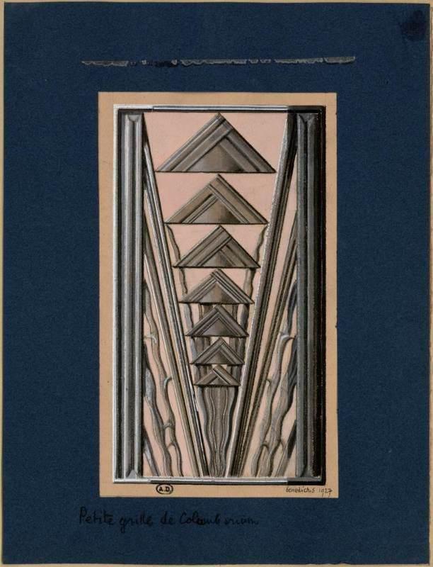 [Petite grille de Colombarium] | Centre de documentation des musées - Les Arts Décoratifs