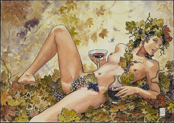 Любовь к жизни - Красивые эротические рисунки от MILO MANARA