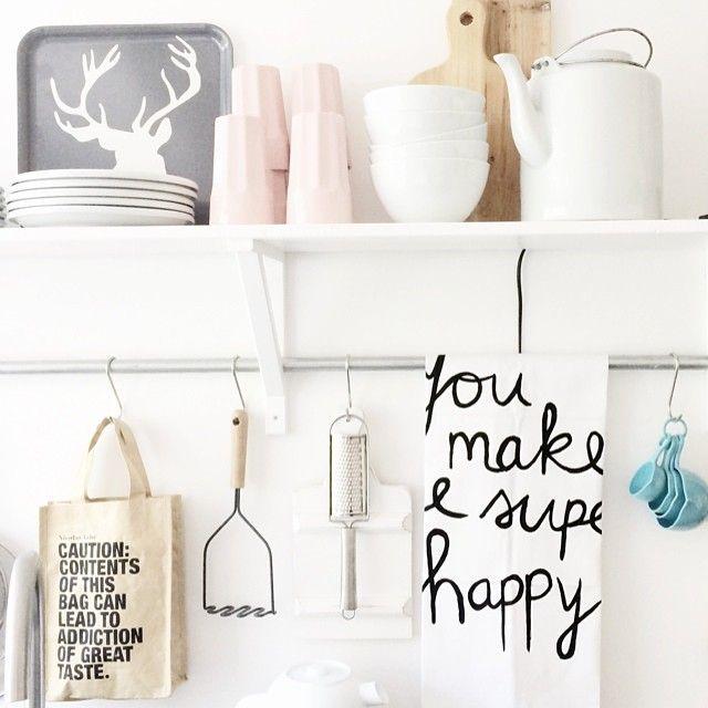bekers #Ikea - theedoek #Lekkerfris - kitchenware - scandinavian ❥