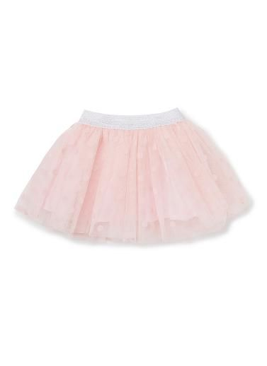 100% Polyester Tutu. Double layered, tulle tutu with all-over flocked spot and  lurex elastic waistband. Fully lined in 100% Cotton, available in Shortcake.