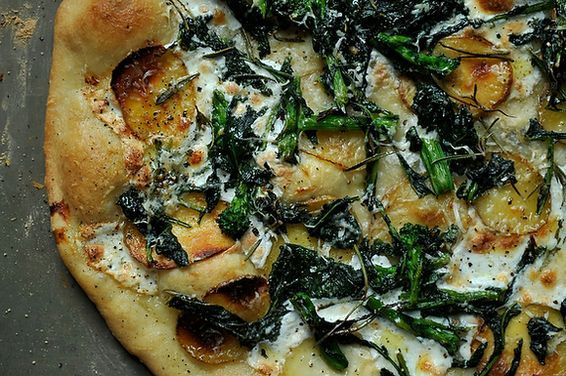 Broccoli Rabe, Potato and Rosemary Pizza, a recipe on Food52
