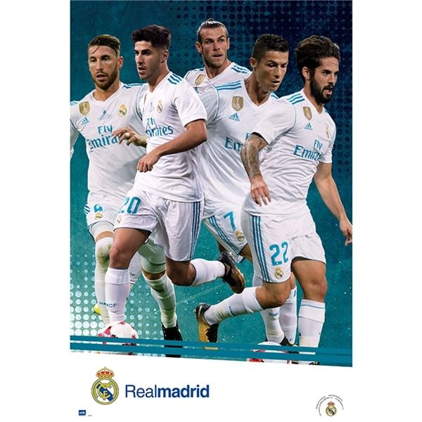 Real Madrid Player Poster 17/18