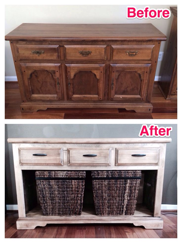 I just finished upcycling the bottom half of a $50 china cabinet into a TV stand. This project only cost ~$150 including the cabinet and materials. Check out my blog treatnation.com for the tutorial.