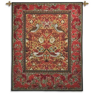 Fine Art Tapestries Strawberry Thief Decor Tapestry