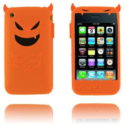 Demon (Oransje) iPhone Deksel for 3G/3GS lux-case.no