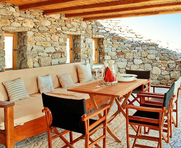 Castor villa outside sitting area