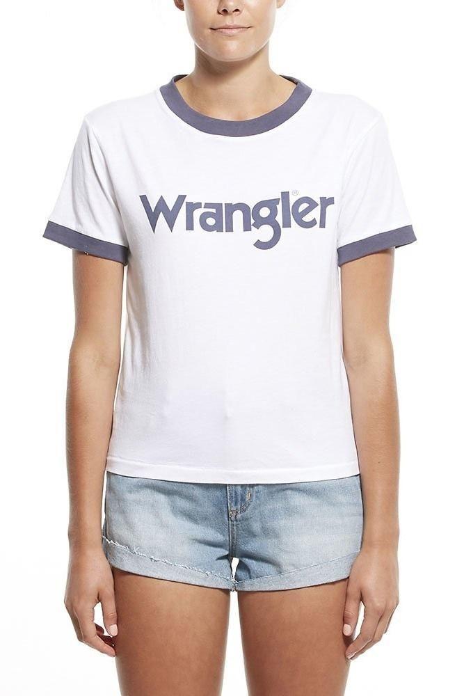 wrangler - Classic Ringer Tee White