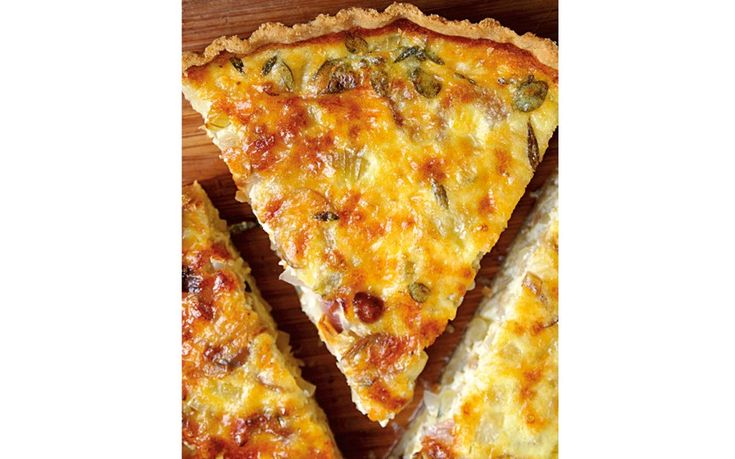 Mary McCartney's cheesy quiche, a variation of one of her mother Linda   McCartney's recipes.