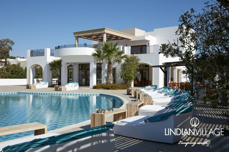 We will be lounging by the pool today… More at lindianvillage.gr