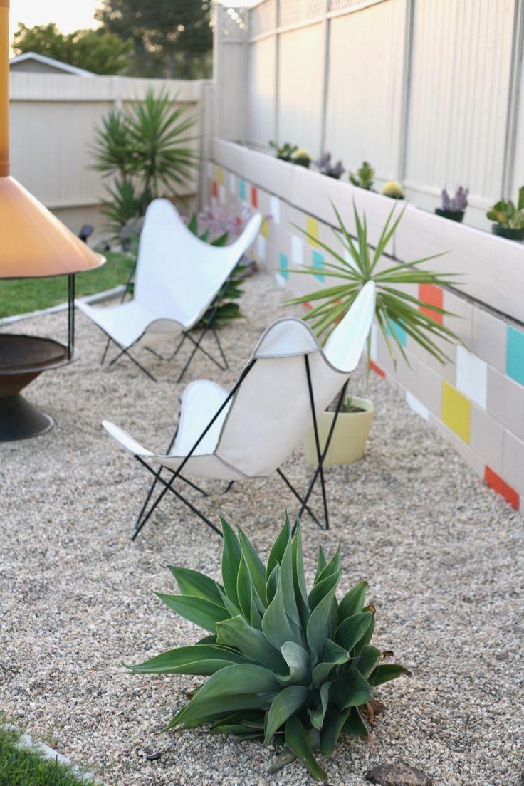 Mid century modern backyard landscaping ideas