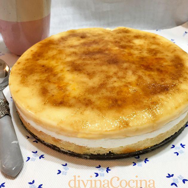 Tarta Goxua De Crema Y Nata Receta De Divina Cocina Tartas Tarta De Natillas Receta De Tartas Dulces
