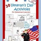30 activities to celebrate Veteran's Day! Coloring, lists, poems, writings, and more...for using critical thinking skills to learn about a national...