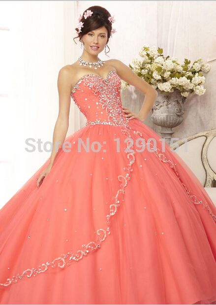 7dbf1cae65c Quinceanera Dresses Neon Coral Coral Quinceanera Dresses