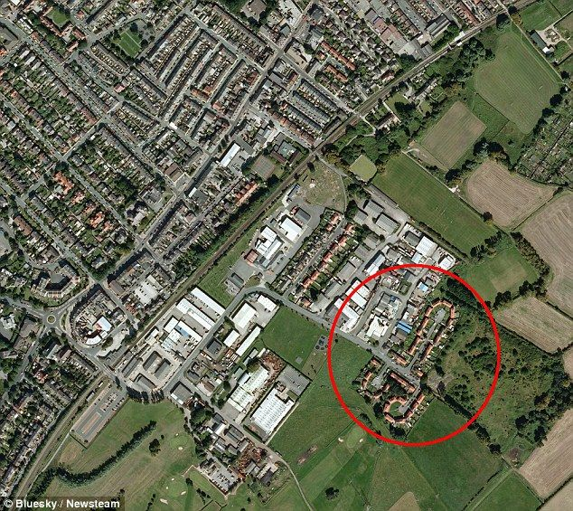 'Since someone spotted this on Google Earth we have all become a laughing stock': Cul-de-sac on housing estate resembles male genitalia when viewed from the air - Suburban Planning Graffiti???! Reminds me of the Original VHS Cover for The Little Mermaid