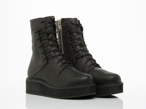 UNIF Dox Boot in Black at Solestruck.com