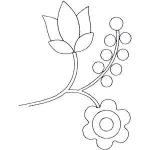 Rosa de Sharon Linework acolcha