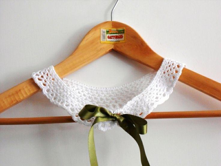 colletto staccabile pizzo a uncinetto, bianco di cose di isa su DaWanda.com