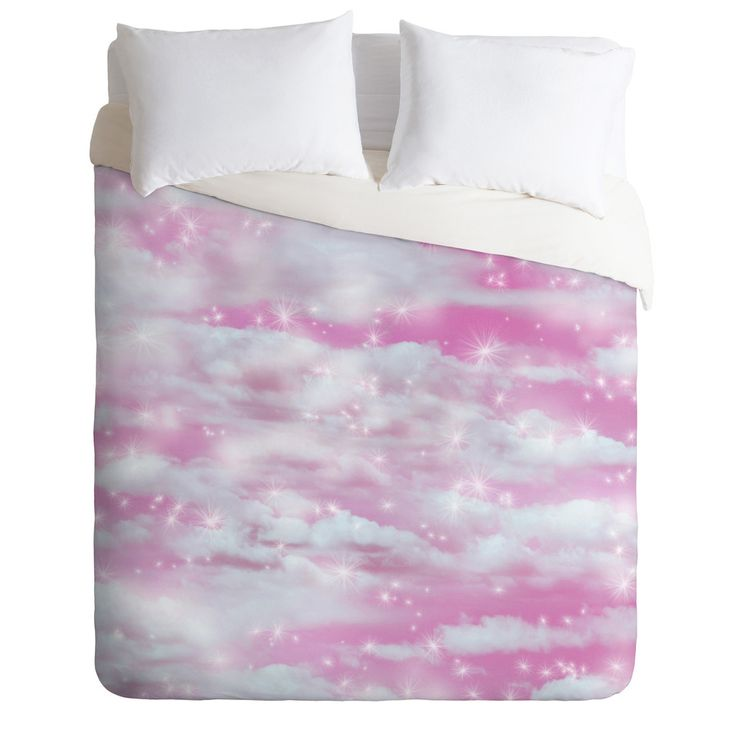 Lisa Argyropoulos Dream Big In Pink Duvet Cover | DENY Designs Home Accessories