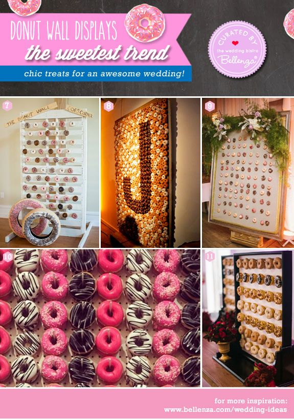 Donut wall presentation ideas for weddings!